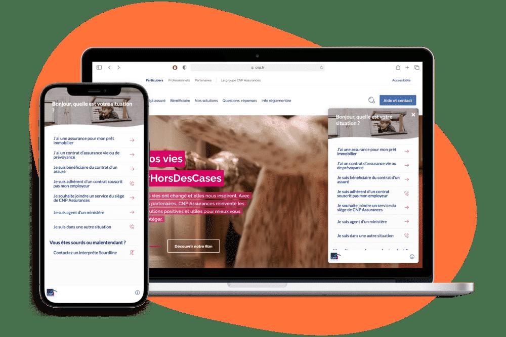 DialOnce-CNP-Parcours-Page-Contact-Intelligente-Assurance