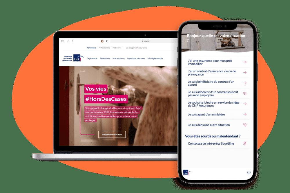DialOnce-Parcours-CNP-Assurance-Page-Contact-Intelligente